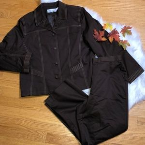 Alfred Dunner 2 piece pant jacket outfit 10P